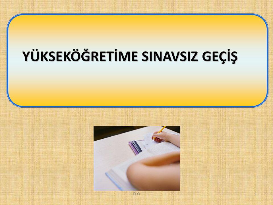 D.Ö12 YGS sınavında Testlerin Ağırlıkları Puan TürüTürkçeSosyal Bilimler Temel Matematik Fen Bilimleri YGS-340302010 YGS-430402010