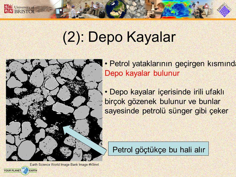 (2): Depo Kayalar Earth Science World Image Bank Image #h5innl Petrol yataklarının geçirgen kısmında Depo kayalar bulunur Depo kayalar içerisinde iril