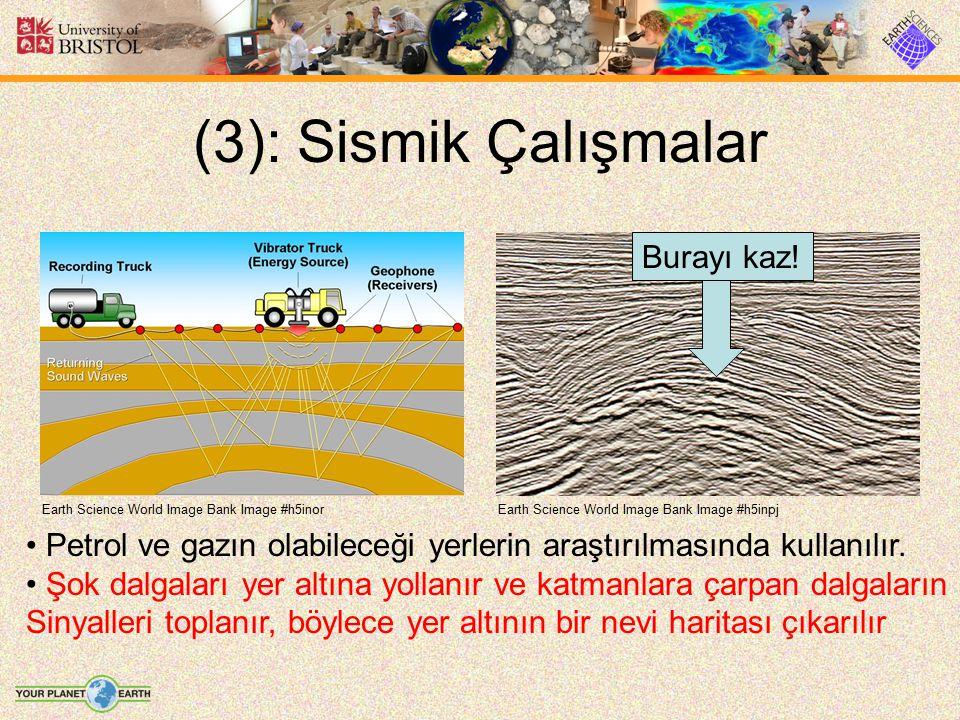 (3): Sismik Çalışmalar Earth Science World Image Bank Image #h5inpjEarth Science World Image Bank Image #h5inor Petrol ve gazın olabileceği yerlerin a