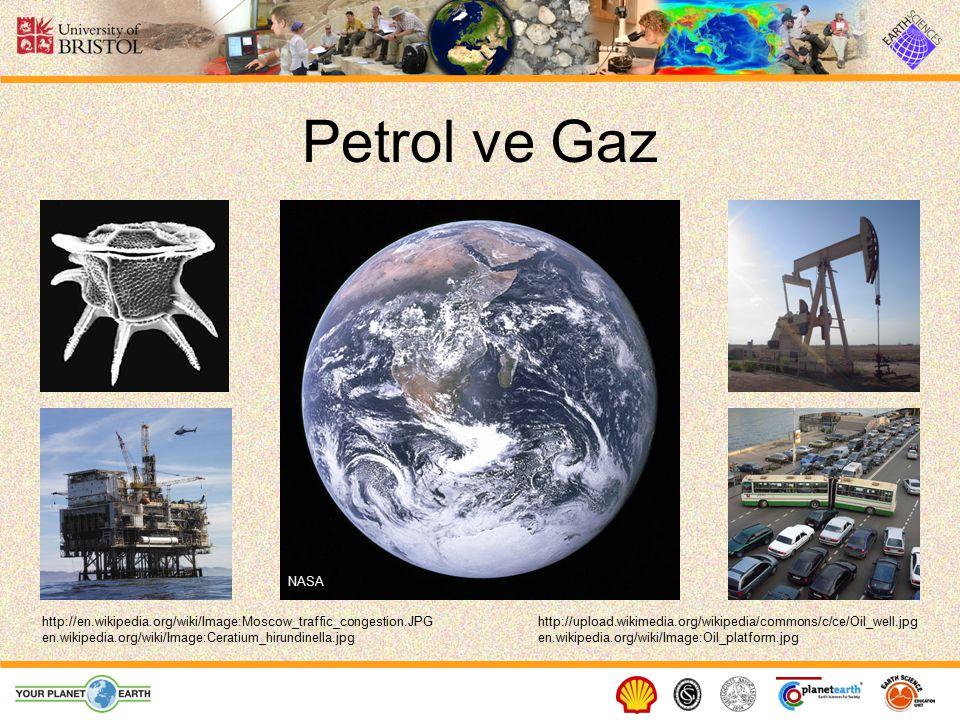 Petrol ve Gaz http://upload.wikimedia.org/wikipedia/commons/c/ce/Oil_well.jpghttp://en.wikipedia.org/wiki/Image:Moscow_traffic_congestion.JPG NASA en.