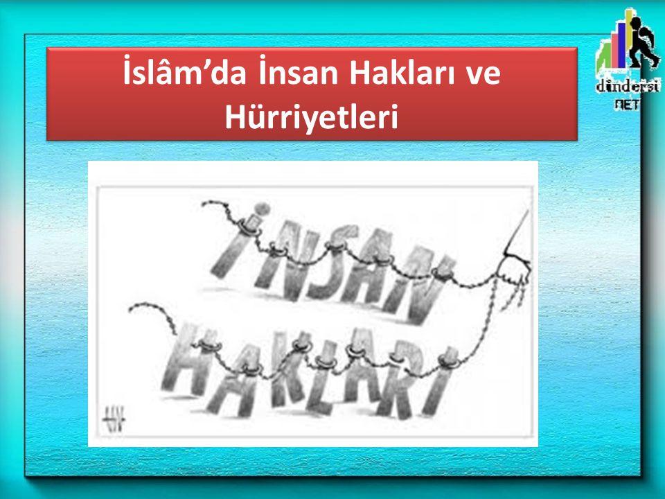 İslâm'da İnsan Hakları ve Hürriyetleri