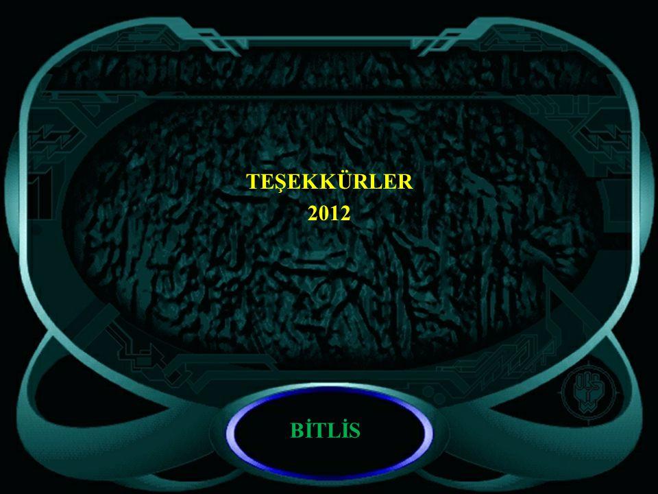 TEŞEKKÜRLER 2012