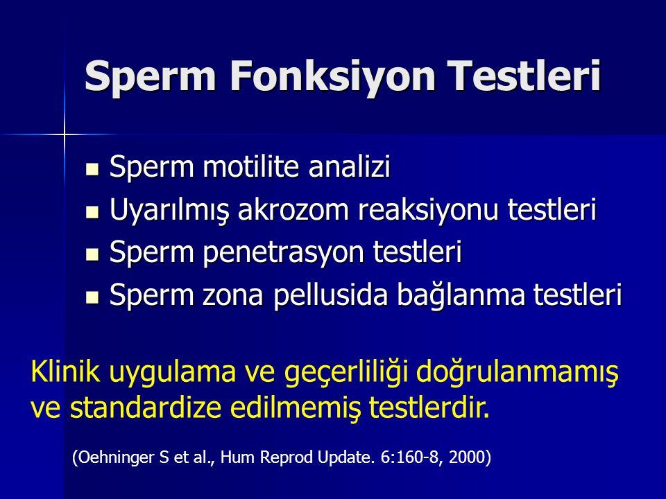Postkoital Test Postkoital testin infertilite araştırmasında standart bir test olduğunu söylemek, 2 sistematik derleme ve 1 RKÇ ışığı altında, zordur.