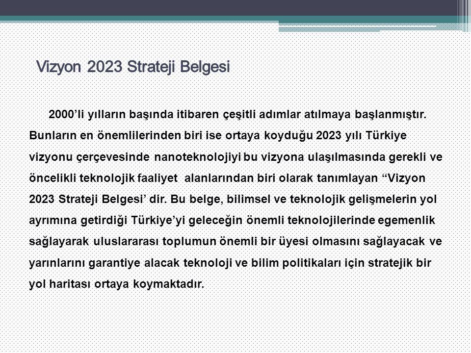 2000'li yılların başında itibaren çeşitli adımlar atılmaya başlanmıştır. Bunların en önemlilerinden biri ise ortaya koyduğu 2023 yılı Türkiye vizyonu