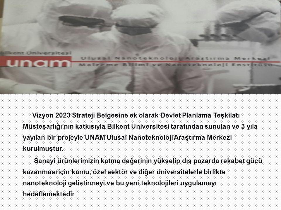 Vizyon 2023 Strateji Belgesine ek olarak Devlet Planlama Teşkilatı Müsteşarlığı'nın katkısıyla Bilkent Üniversitesi tarafından sunulan ve 3 yıla yayıl