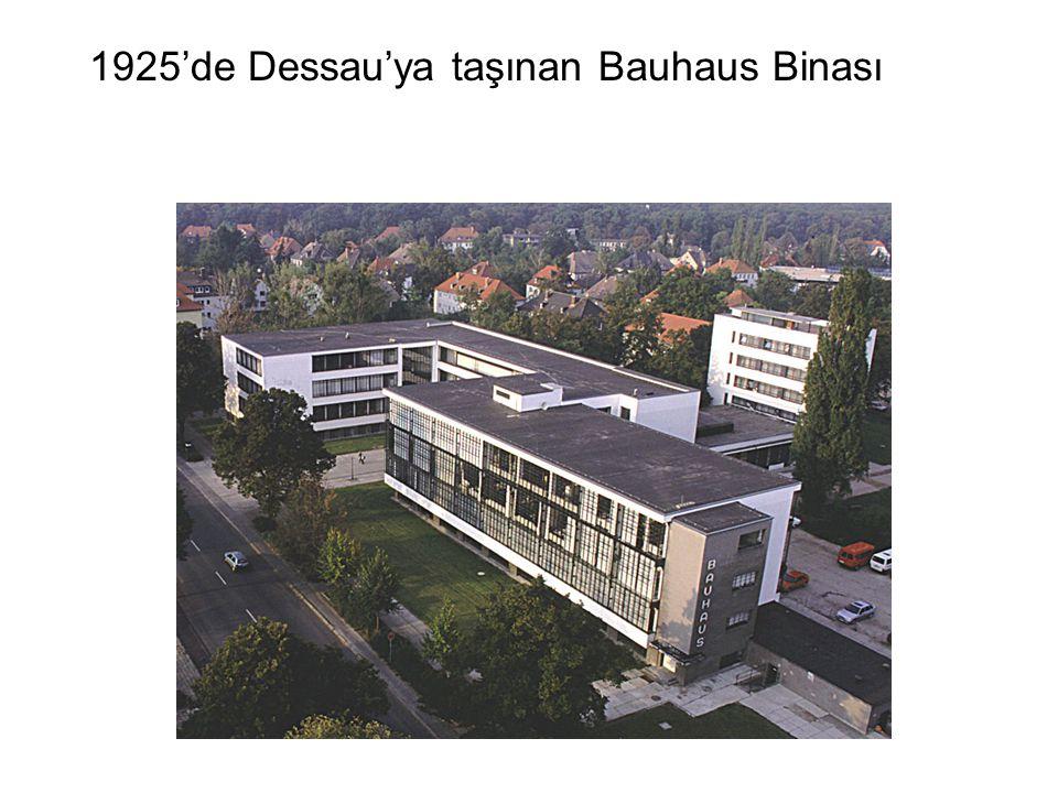 1925'de Dessau'ya taşınan Bauhaus Binası