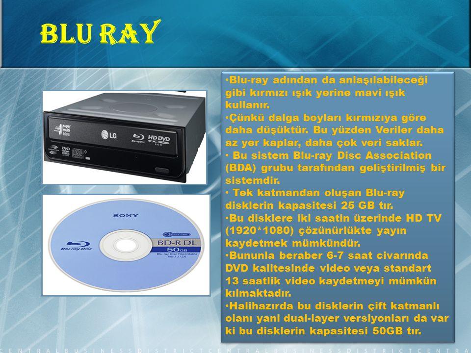 Blu-ray adından da anlaşılabileceği gibi kırmızı ışık yerine mavi ışık kullanır.