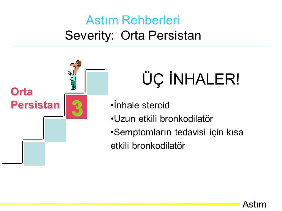 3 OrtaPersistan Astım Rehberleri Severity: Orta Persistan Astım ÜÇ İNHALER.