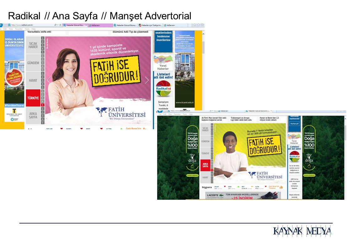 Radikal // Ana Sayfa // Manşet Advertorial
