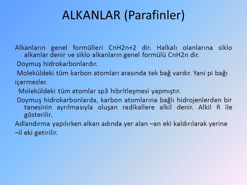 ALKENLERİN GENEL ELDE EDİLME YOLLARI 1.Alkollerde su çekilmesi ile (Dehidratasyon) 2.