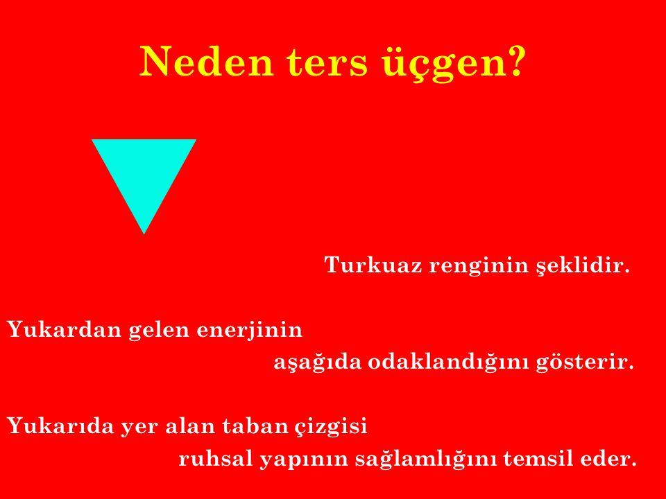 Neden ters üçgen.Turkuaz renginin şeklidir.