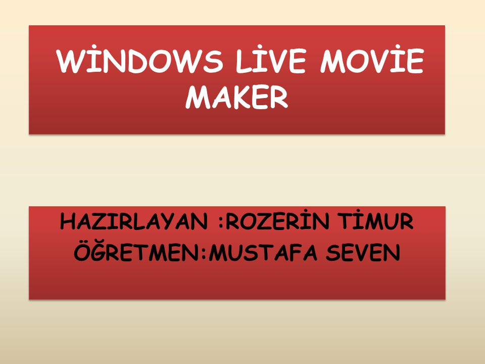 Movie maker nedir.