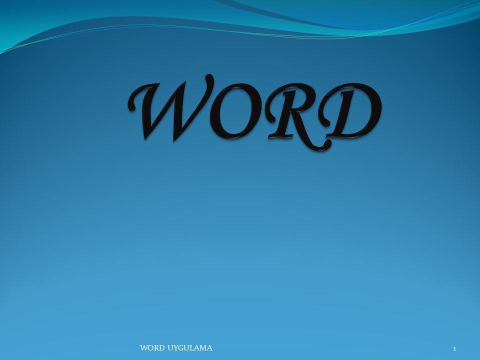 22 *Döngüsel SmartArt örnek WORD UYGULAMA