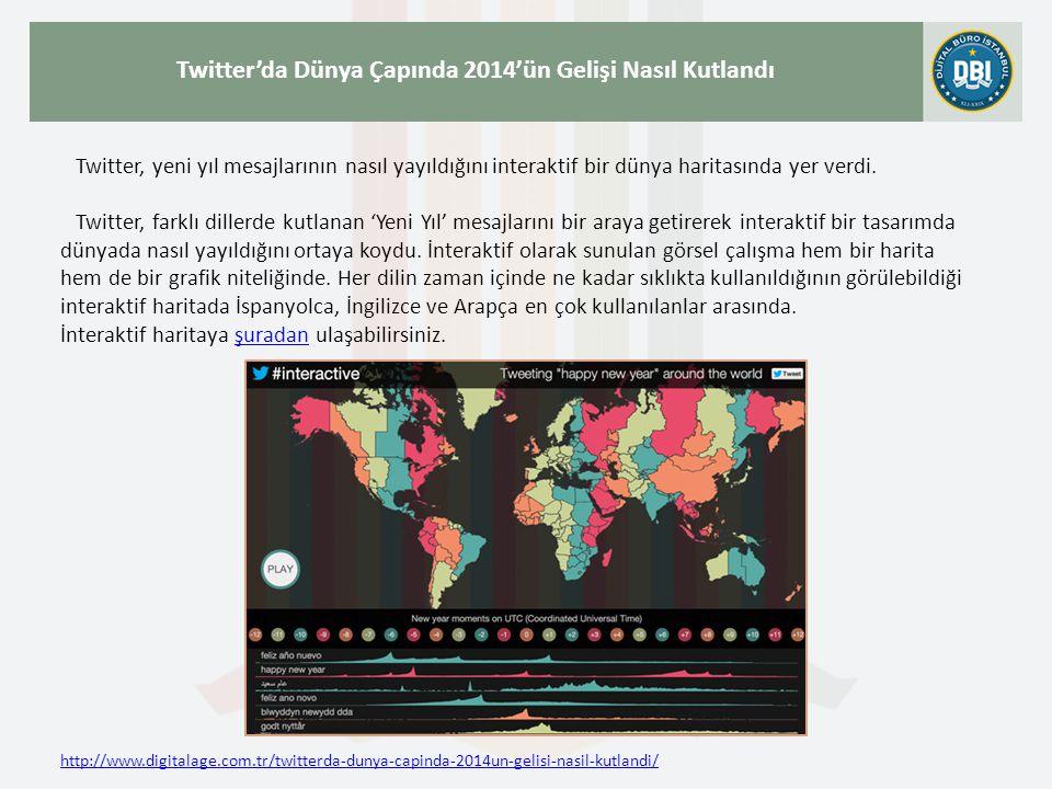 http://www.digitalage.com.tr/twitterda-dunya-capinda-2014un-gelisi-nasil-kutlandi/ Twitter'da Dünya Çapında 2014'ün Gelişi Nasıl Kutlandı Twitter, yeni yıl mesajlarının nasıl yayıldığını interaktif bir dünya haritasında yer verdi.