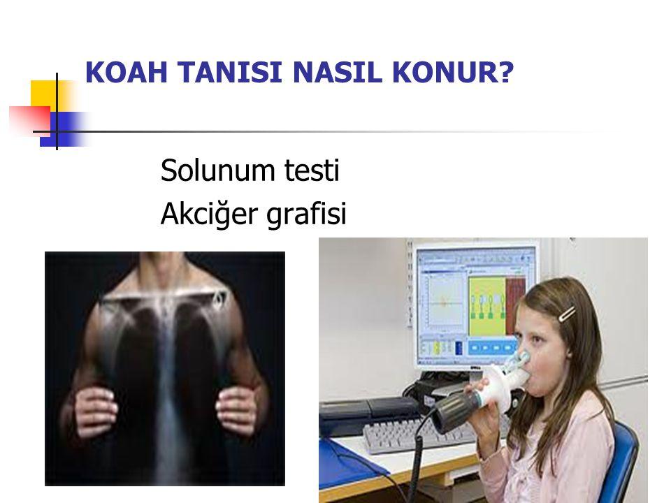 KOAH TANISI NASIL KONUR? Solunum testi Akciğer grafisi