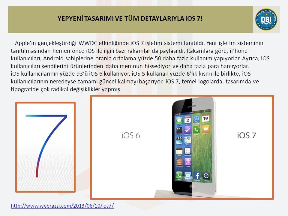 http://www.webrazzi.com/2013/06/10/ios7/ YEPYENİ TASARIMI VE TÜM DETAYLARIYLA iOS 7.