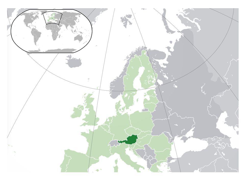 AVUSTURYA ile İLGİLİ BAZI BİLGİLER Başkenti: VİYANA Dili: ALMANCA Yönetim Biçimi: Cumhuriyet Nüfusu: 8.5 Milyon Para Birimi:EURO İklim: Yazlar serin, kışlar bol kar yağışlı Bitki Örtüsü:Ülkenin yarısı ormanlıktır