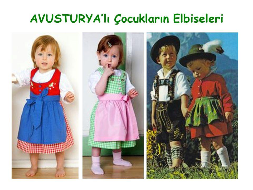 AVUSTURYA'lı Çocukların Elbiseleri