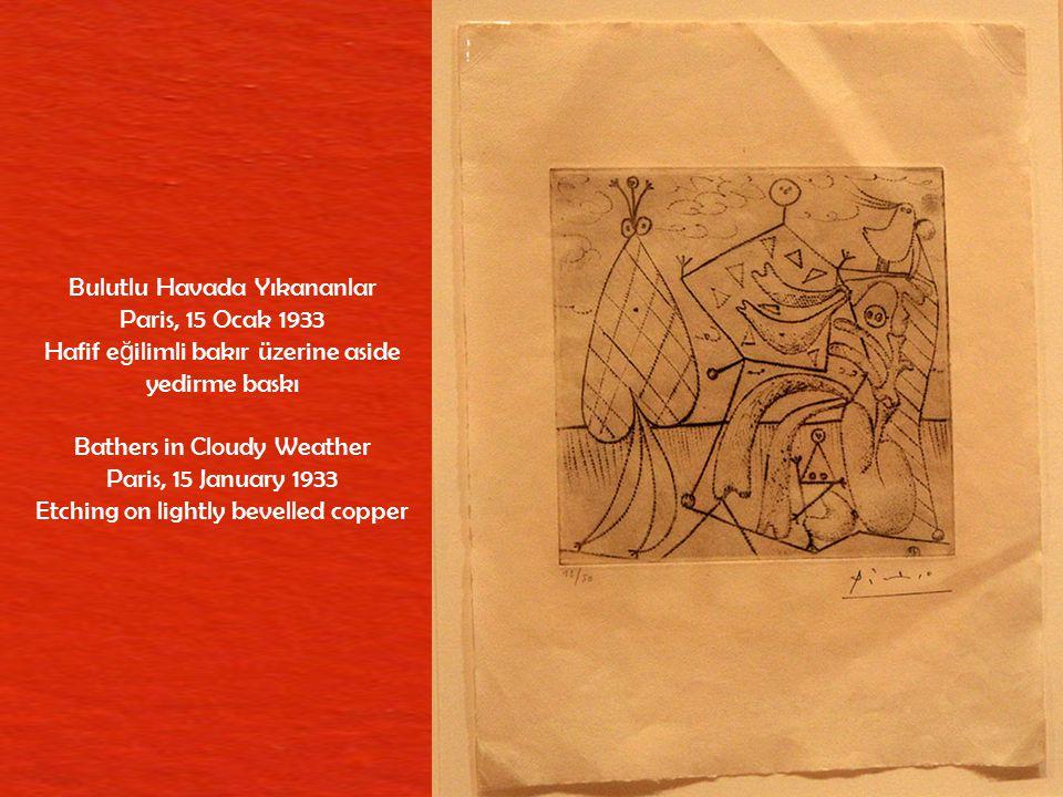 İ ki Çıplak Kadın Paris, 8 Ş ubat 1946 Ta ş üzerine fırça, kalem ve kazıma bıça ğ ı Two Female Nudes Paris, 8 February 1946 Brush, pen and scraper on stone
