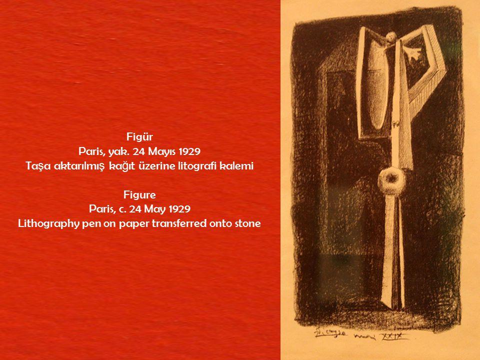 Ya ş lı Ressamın Atölyesi Vallauris, 14 Mart 1954 Ta ş a aktarılmı ş ş effaf transfer baskı kâ ğ ıdı üzerine litografi kalemi The Old Painter's Studio Vallauris, 14 March 1954 Litho crayon on transparent transfer paper transferred onto stone