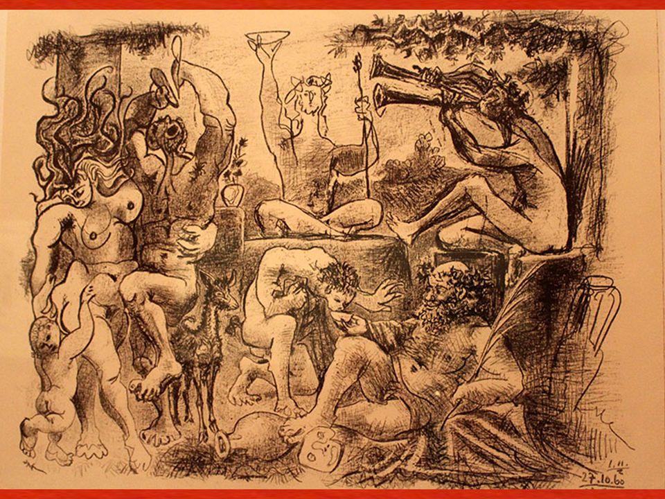 Baküs'e Saygı Vauvenargues, 27, 28, 30 ve 31 Ekim ve 1 ve 2 Kasım 1960 Ta ş a aktarılmı ş transfer kâ ğ ıdı üzerine litografi kalemi (frotagge tekni ğ