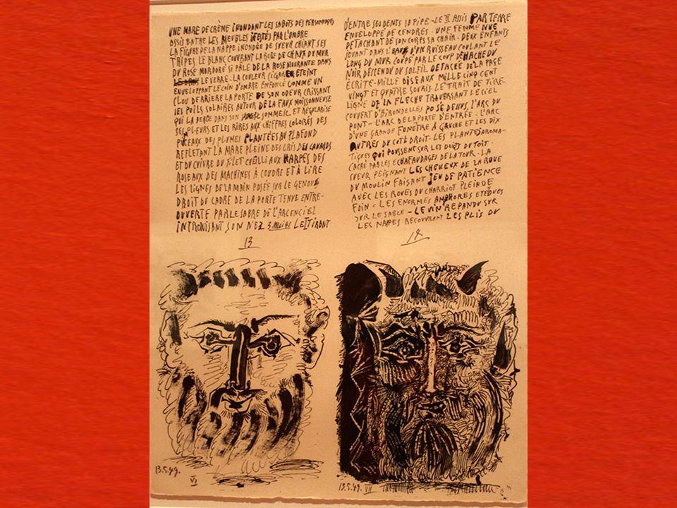 Ş iirler ve Litografiler, 8. Yaprak Baskı: Aralık 1954 (1) Metin, 11 Ş ubat 1941 Ka ğ ıt üzerine kalem (2)Faun Ba ş ı, 13 Mayıs 1949 Ka ğ ıt üzerine k