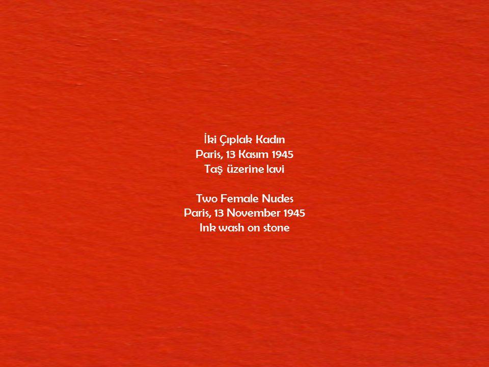 Yola Çıkı ş Vallauris, 20 Mayıs 1951 Çinkoya aktarılmı ş Yola Çıkı ş 'ın baskısı üzerine kalem ve lavi çalı ş ılmı ş ş effaf kâ ğ ıt The Departure Vallauris, 20 May 1951 Pen and ink wash on transparent paper on print of The Departure transferred onto zinc