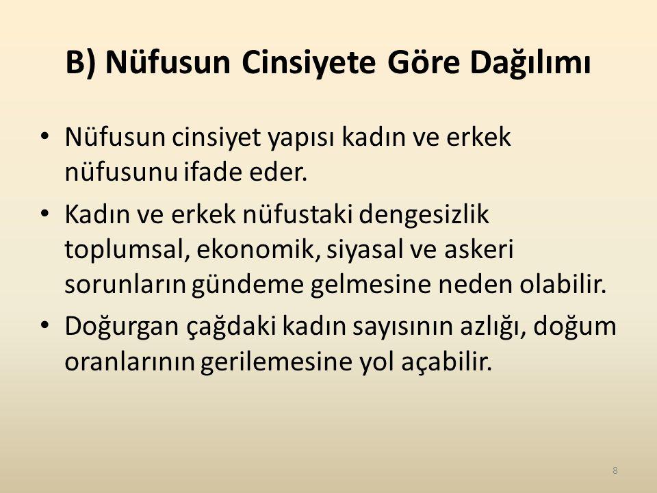 E) Türkiye'nin Kır ve Kent Nüfusu Bir ülkede nüfusun kır veya kentlerde yaşaması o ülkenin sosyal ve ekonomik durumunu yansıtır.