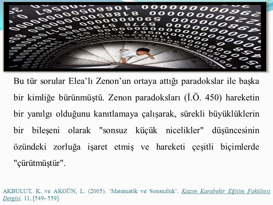 Zenon: Yavaş olan hiçbir zaman hızlı olan tarafından yetişilip geçilemez. Bu ünlü Hızlı Akhilleus paradoksudur.
