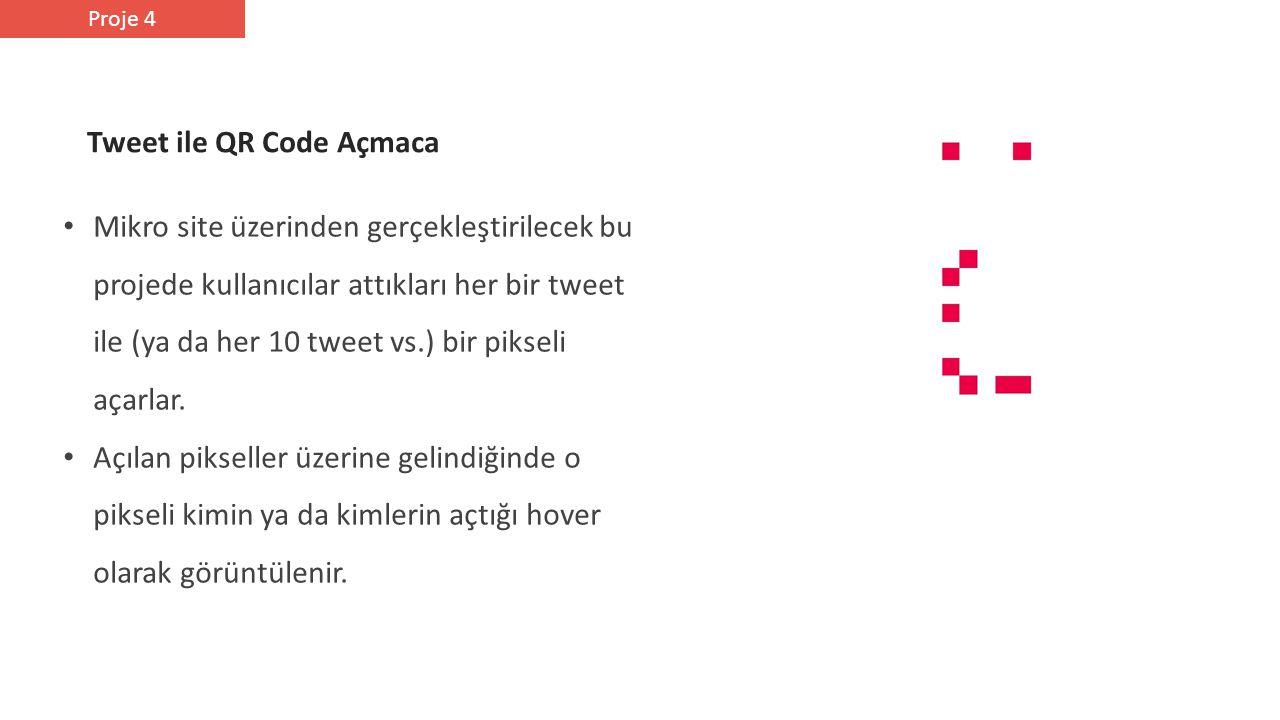 Mikro site üzerinden gerçekleştirilecek bu projede kullanıcılar attıkları her bir tweet ile (ya da her 10 tweet vs.) bir pikseli açarlar.
