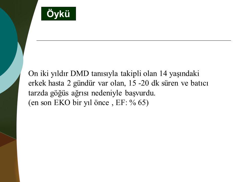 Fizik Bakı Nabız: 75/dk SS: 22/dk KB: 120/60 mmHg SO 2 : %100 Boy: 162 cm Ağırlık: 84 kg KVS: Kalp ritmik.