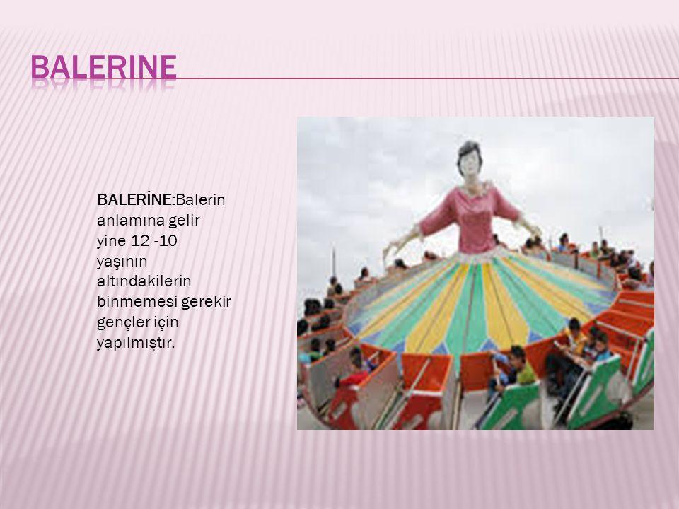BALERİNE:Balerin anlamına gelir yine 12 -10 yaşının altındakilerin binmemesi gerekir gençler için yapılmıştır.