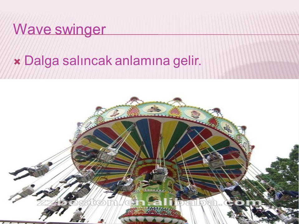 Wave swinger  Dalga salıncak anlamına gelir.