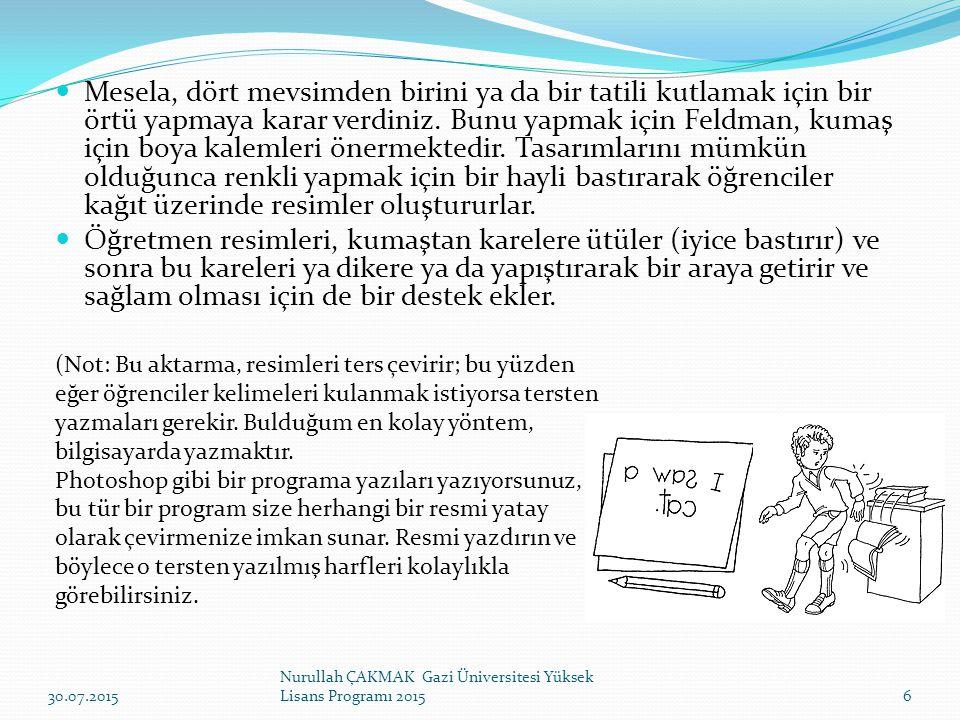 27 Nurullah ÇAKMAK Gazi Üniversitesi Yüksek Lisans Programı 2015 30.07.2015