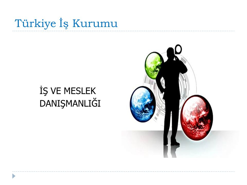 Türkiye İş Kurumu İŞ VE MESLEK DANIŞMANLIĞI