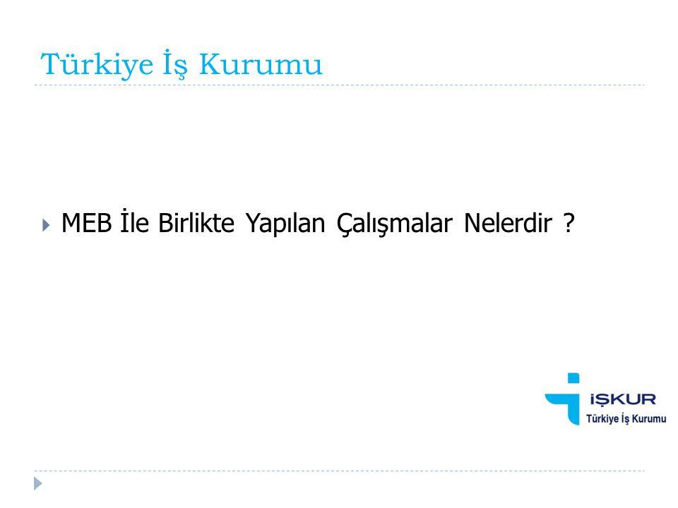 Türkiye İş Kurumu  MEB İle Birlikte Yapılan Çalışmalar Nelerdir ?