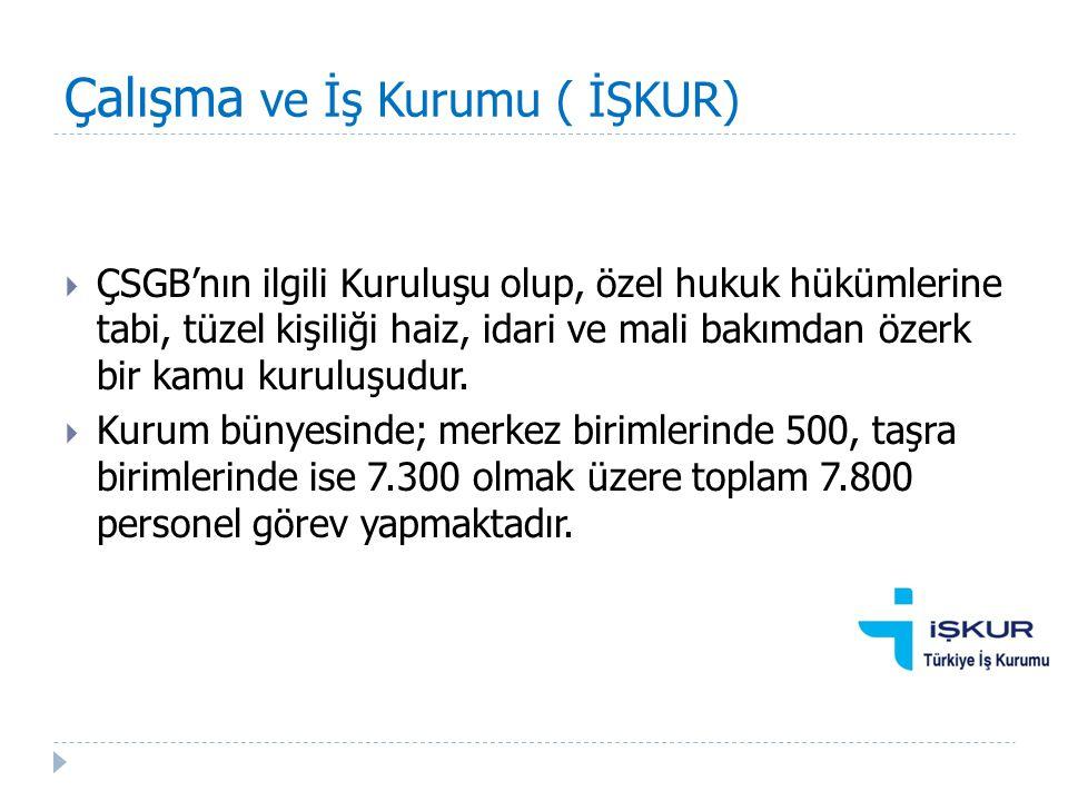 Çalışma ve İş Kurumu ( İŞKUR)  Türkiye genelinde 4000, Ankara'da 285 ve Sincan Hizmet Biriminde de 50 İş ve Meslek Danışmanı İşkur Hizmet Merkezlerinde danışmanlık hizmeti vermektedir.