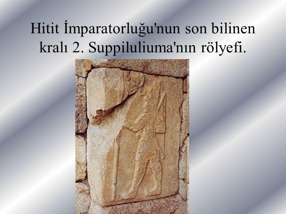 Hitit İmparatorluğu'nun son bilinen kralı 2. Suppiluliuma'nın rölyefi.