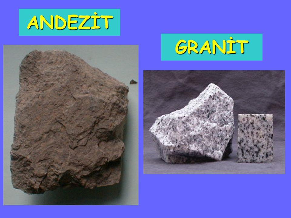 Püskürük Taşların Genel Özellikleri: Yapıları kristallidir (taneli).