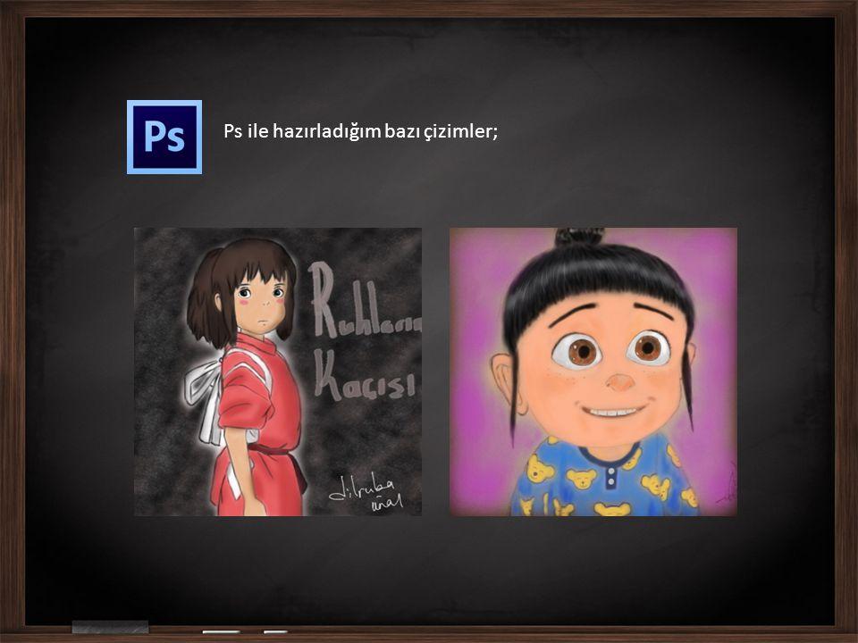 Ps ile hazırladığım bazı çizimler;