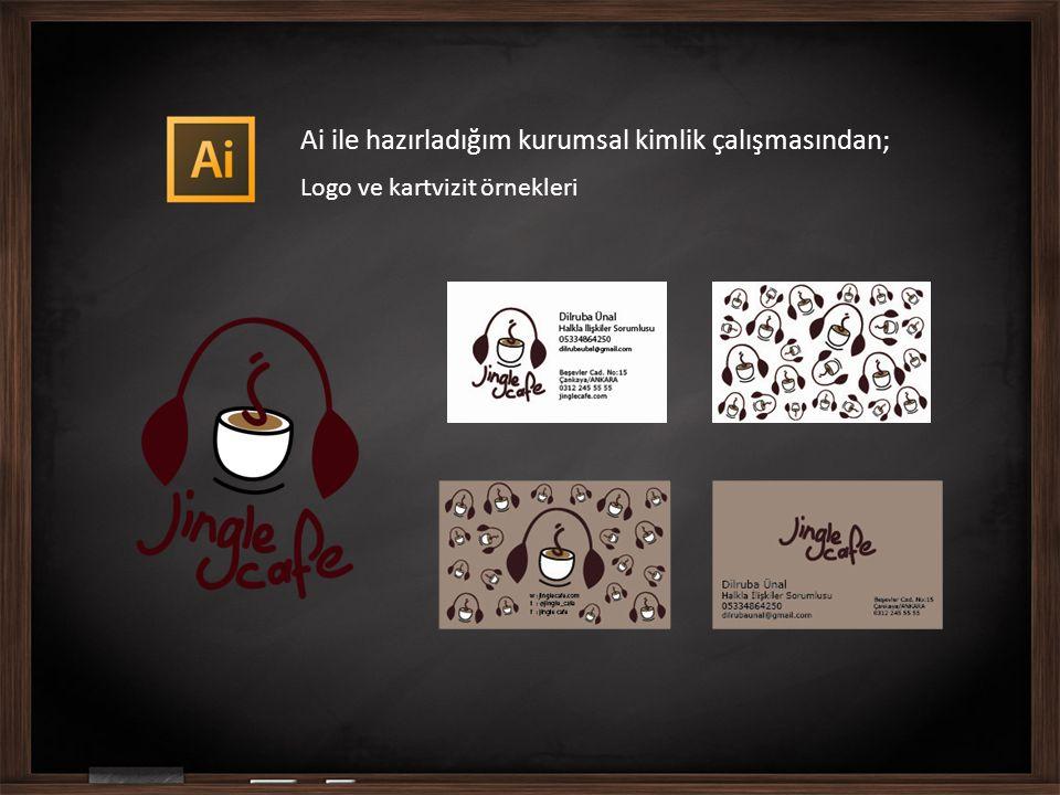 Ai ile hazırladığım kurumsal kimlik çalışmasından; Logo ve kartvizit örnekleri