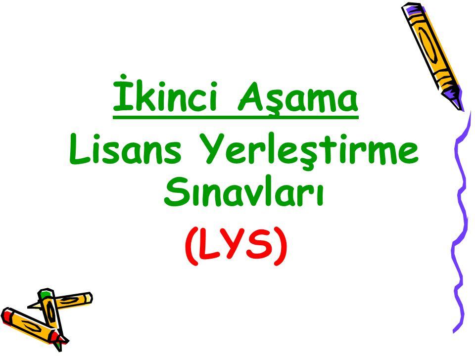 İkinci Aşama Lisans Yerleştirme Sınavları (LYS)