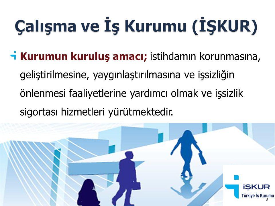 Kurumun kuruluş amacı; istihdamın korunmasına, geliştirilmesine, yaygınlaştırılmasına ve işsizliğin önlenmesi faaliyetlerine yardımcı olmak ve işsizli