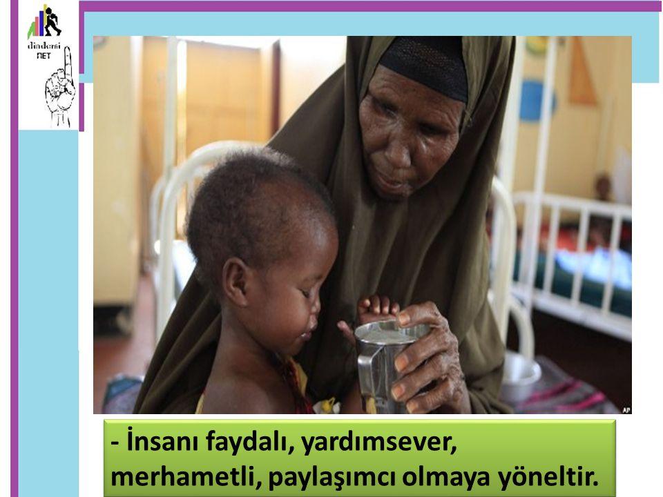 Orucun toplumsal faydaları: - Toplum içinde fakirlerin, kimsesizlerin, muhtaçların daha çok korunup gözetilmesini sağlar.
