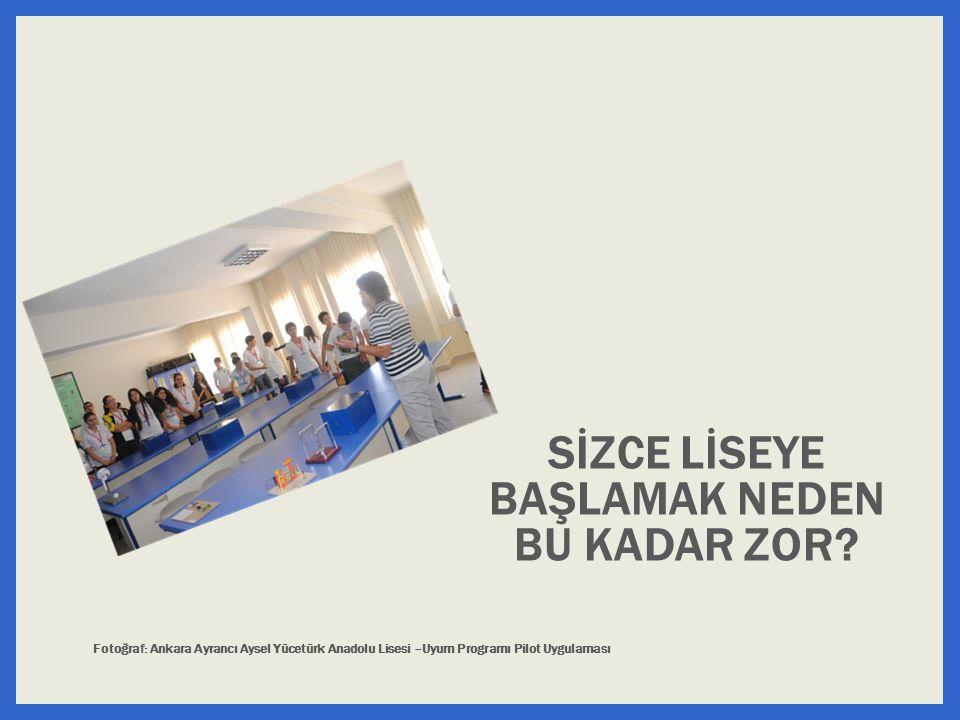 SİZCE LİSEYE BAŞLAMAK NEDEN BU KADAR ZOR? Fotoğraf: Ankara Ayrancı Aysel Yücetürk Anadolu Lisesi –Uyum Programı Pilot Uygulaması