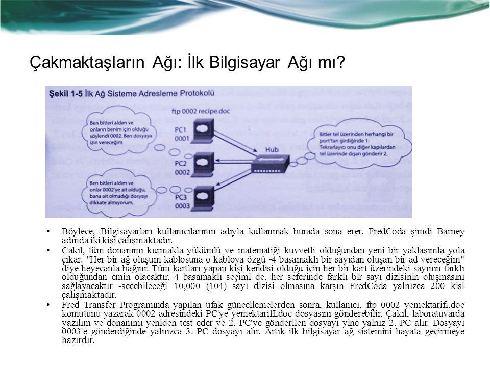 Çakmaktaşların Ağı: İlk Bilgisayar Ağı mı.