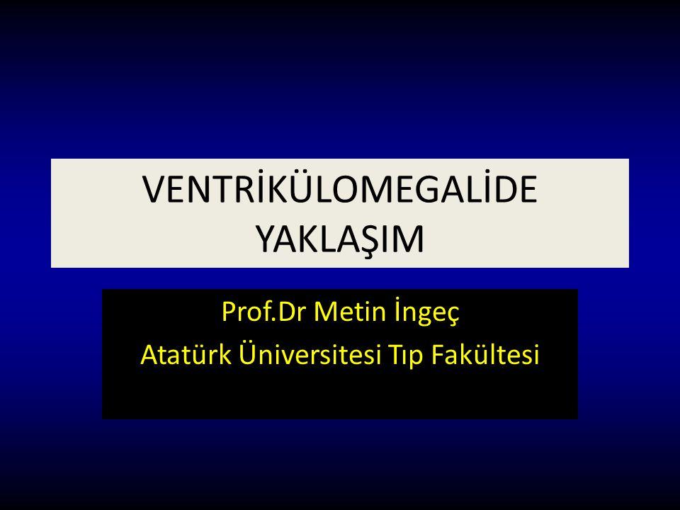 VENTRİKÜLOMEGALİDE YAKLAŞIM Prof.Dr Metin İngeç Atatürk Üniversitesi Tıp Fakültesi
