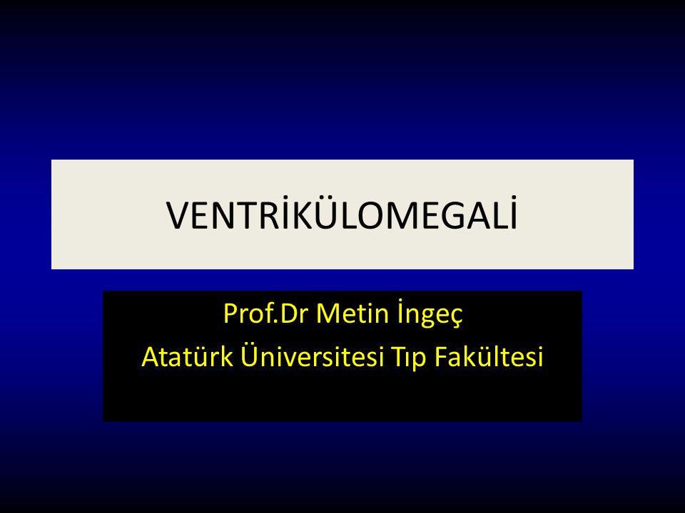 VENTRİKÜLOMEGALİ Prof.Dr Metin İngeç Atatürk Üniversitesi Tıp Fakültesi