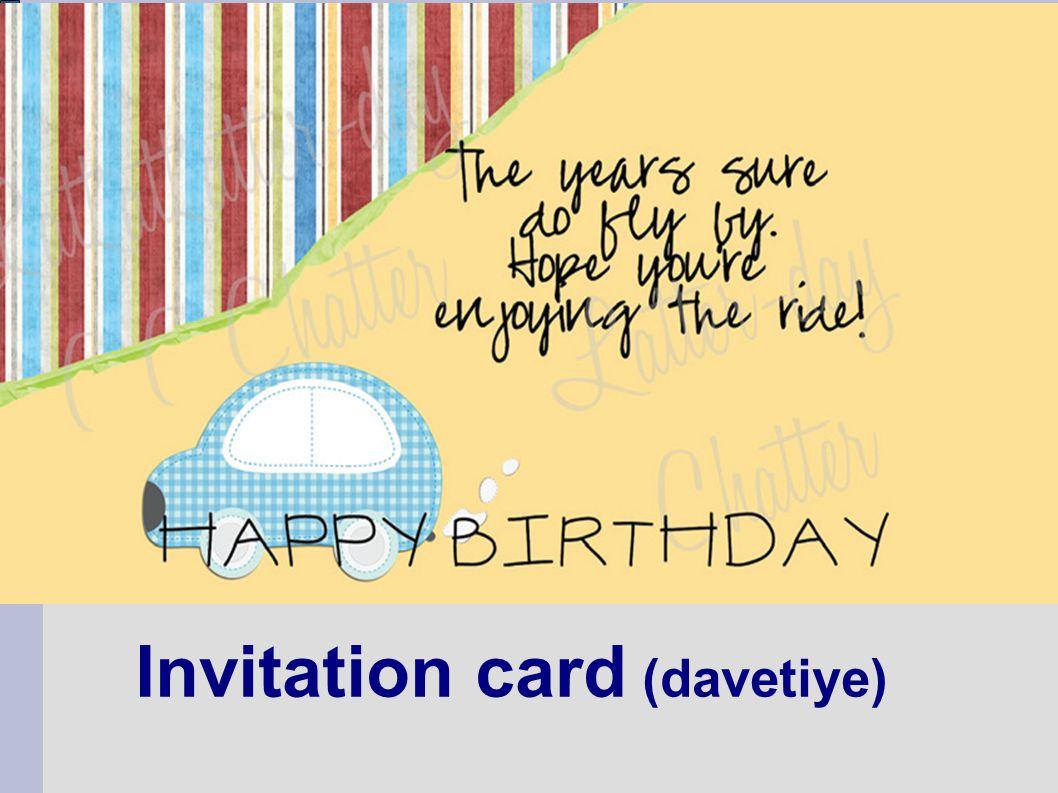 Invitation card (davetiye)