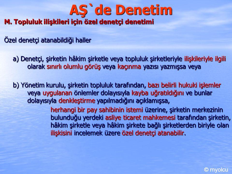 AŞ`de Denetim M.